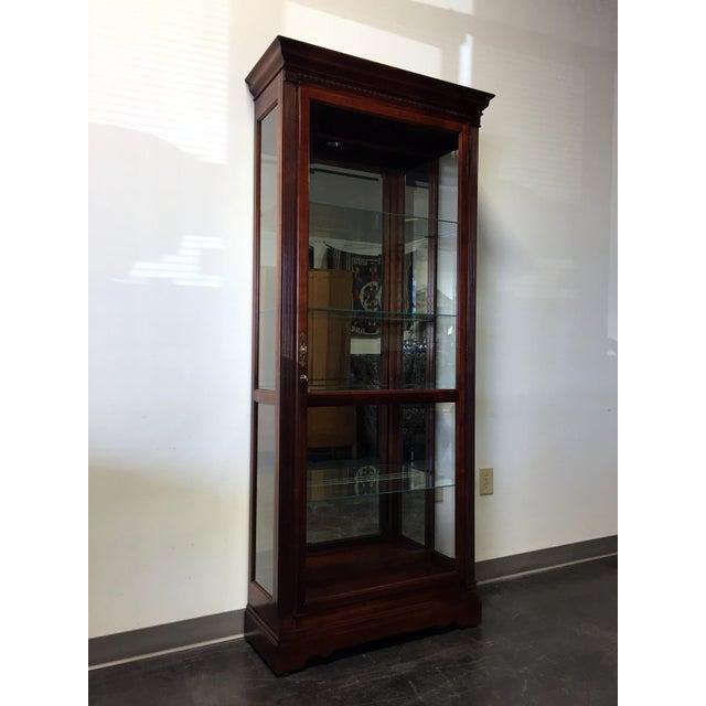 "Howard Miller ""Walcott"" Lighted Curio Cabinet - Image 10 of 11"