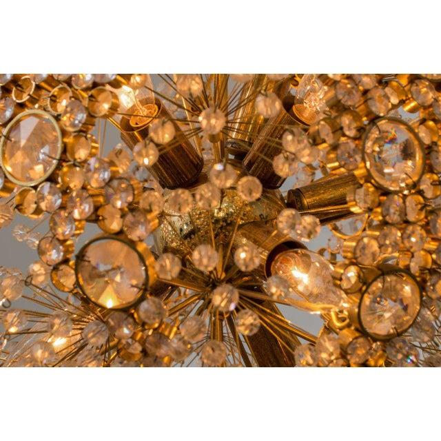 Metal Gilt Brass J.L. Lobmeyr Chandelier For Sale - Image 7 of 9