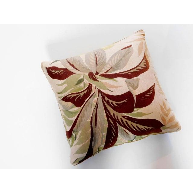 Camel Color Velvet Back Botanical Pillow For Sale In San Francisco - Image 6 of 6