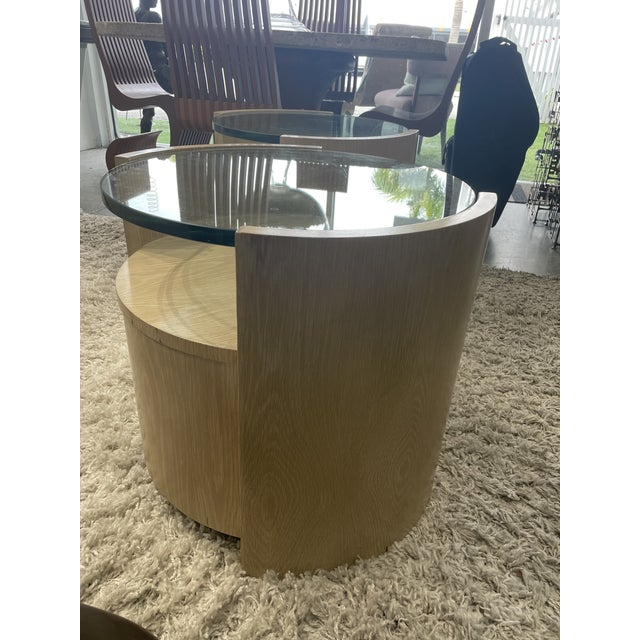 1980s 1980s Jay Specter Signed Round Side Tables - a Pair For Sale - Image 5 of 11