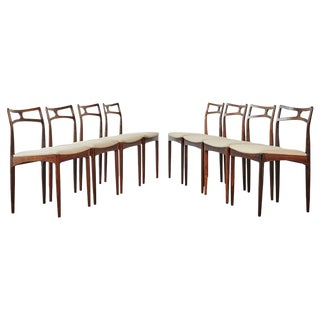 Set of Eight Johannes Andersen Model #94 Rosewood Dining Chairs, Denmark, 1960s For Sale