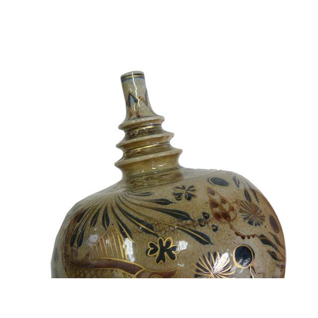 Beige Chinese Crackle Porcelain Fishes Vase For Sale - Image 4 of 6