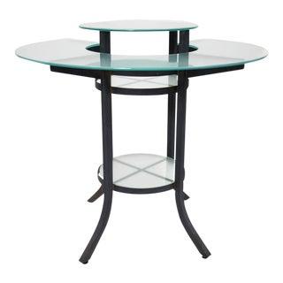 Round Patio Glass Bar