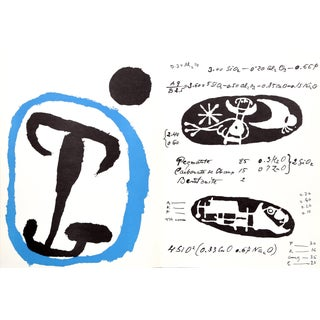 Joan Miró, Untitled (La Quimica) From Derriere Le Miroir, Modern Lithograph For Sale