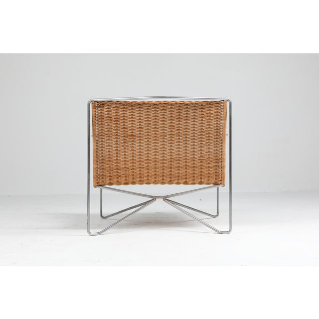 Rattan and Steel Armchairs Gelderland, 1964 - a Pair For Sale - Image 10 of 13