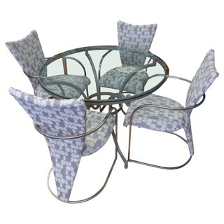 Dining Table and Four Chairs From Design Institute of America, Circa 1970. For Sale