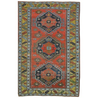 Surena Rugs Semi Antique Tribal Caucasian Rug - 4′9″ × 7′5″ For Sale