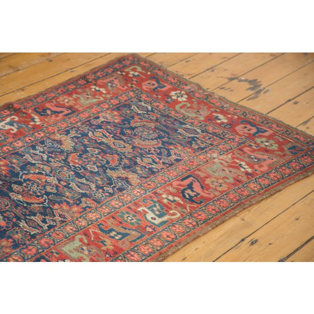 "Antique Kurdish Bidjar Rug Runner - 3'7"" X 13'10"" - Image 3 of 7"