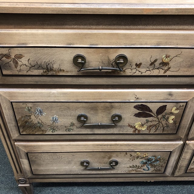 Vintage Handpainted Dresser + Mirror, From Herald Furniture For Sale - Image 12 of 13