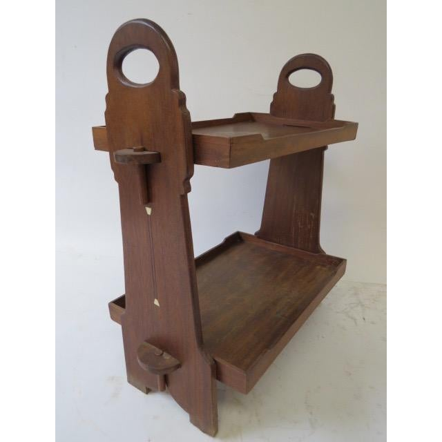 On Hold 1920s Trestle Side Table - Image 7 of 7