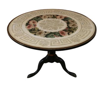 Hand-Painted Coffee Table With Greek Key Design