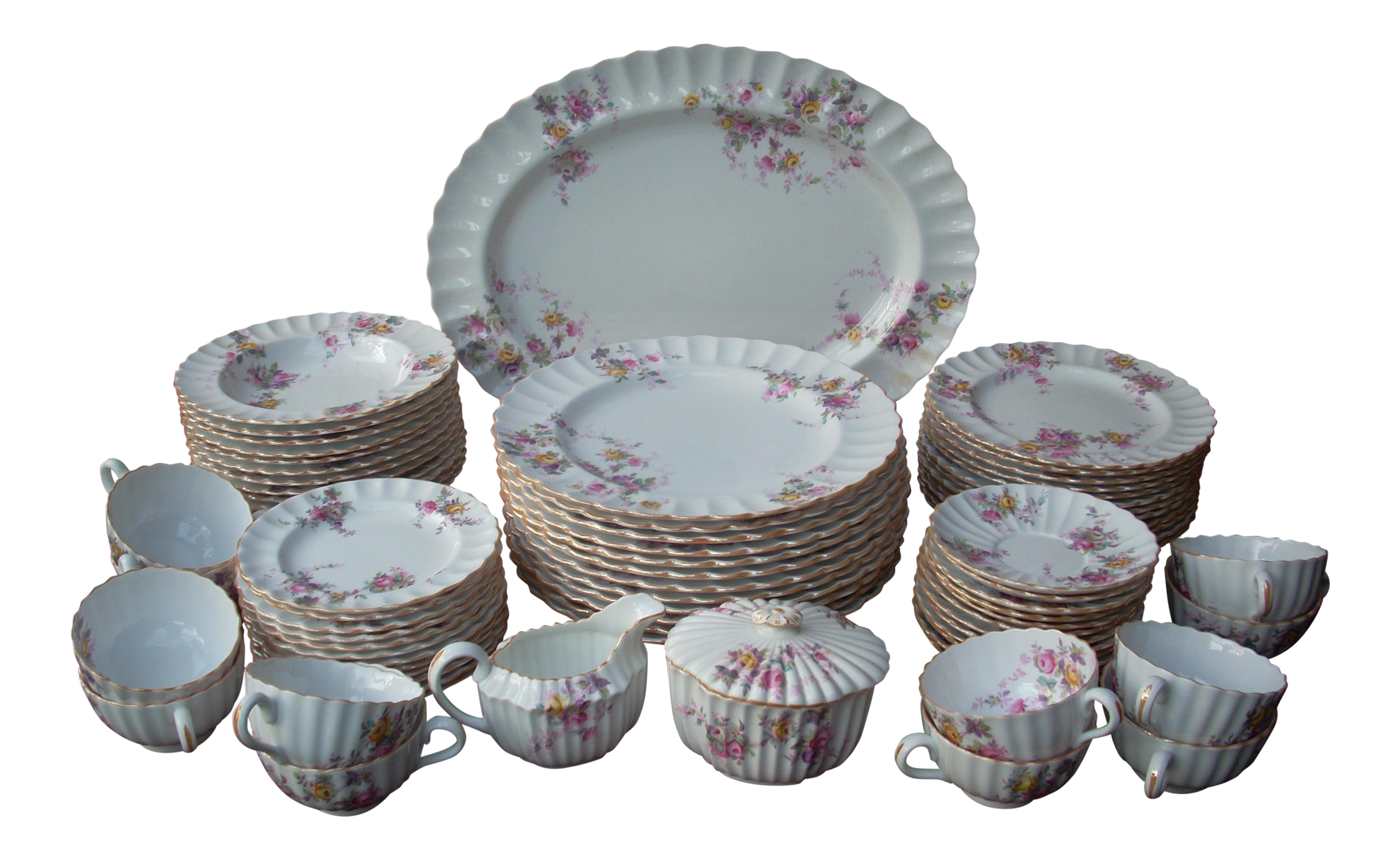 Spode Copeland Pattern China - Set of 75 - Image 1 of 10  sc 1 st  Chairish : spode dinnerware set - pezcame.com
