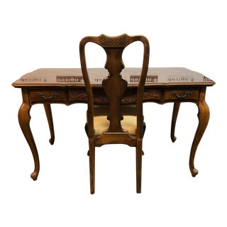 Traditional Writing Desk and Chair, From Drexel Heritage For Sale