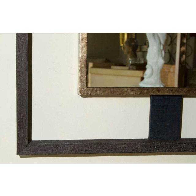 Paul Marra Negative Space Distressed Finish & Horsehair Mirror For Sale In Los Angeles - Image 6 of 8