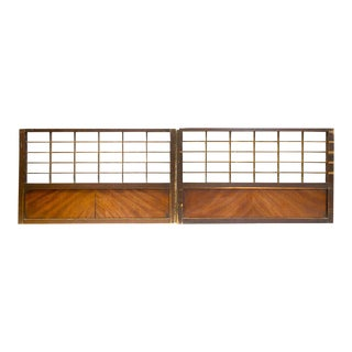 Japanese Sugi Shoji Cedar Doors - a Pair For Sale