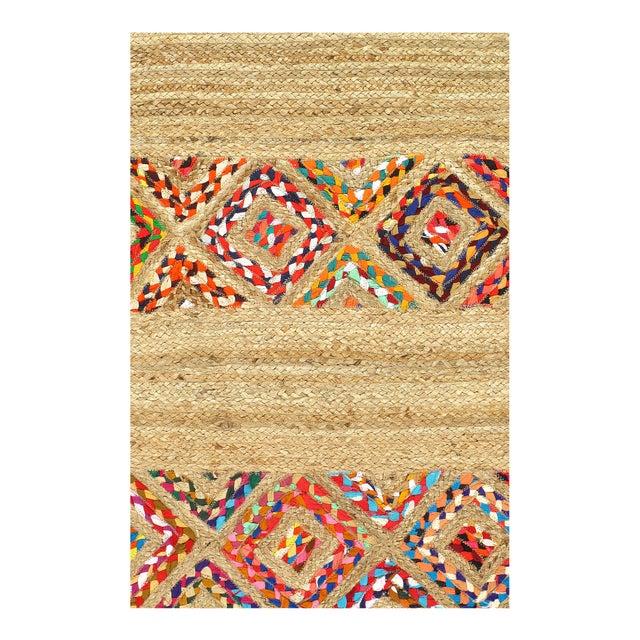 Modern Pasargad Fine Handmade Braided Cotton & Organic Jute Rug - 4' X 6' For Sale - Image 3 of 4