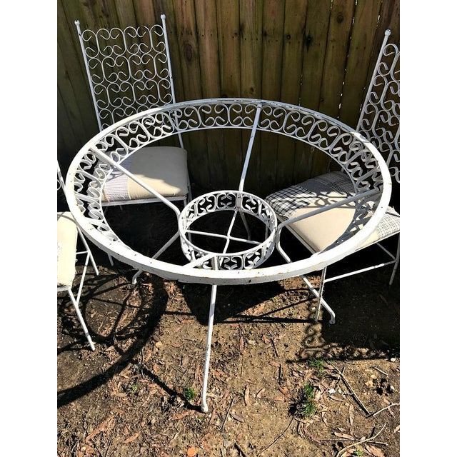 1960s Mid Century Modern Dining /Patio Set - 5 Pieces For Sale - Image 4 of 5