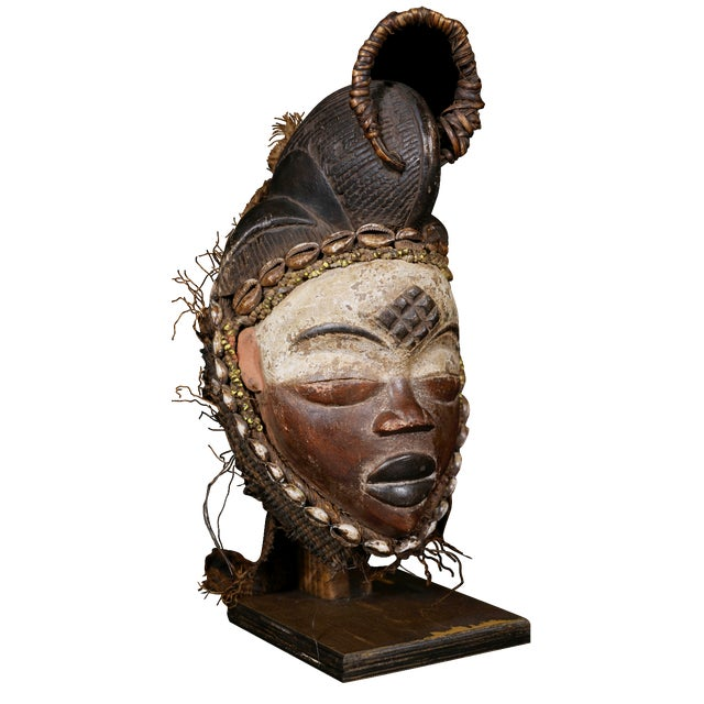 Punu African Tribal Mask from Gabon - Image 1 of 8