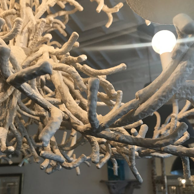 Vintage Faux Coral Chandelier - Image 4 of 10