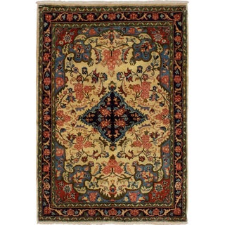 "Sarough Persian Rug, 3'4"" x 4'9"" feet"