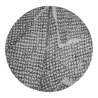 Mesh 8' Round Rug - Gray For Sale