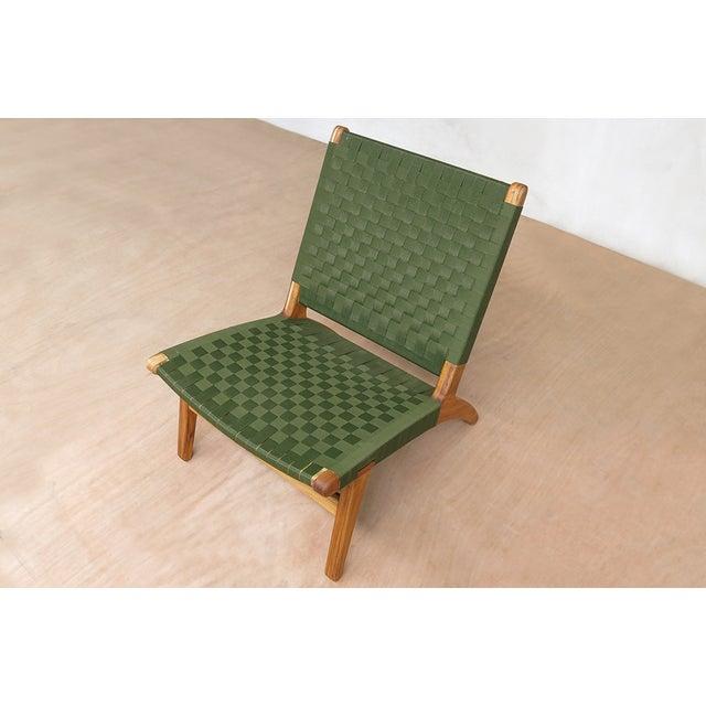 Mid-Century Modern Green Nylon Lounge Chair - Image 5 of 7