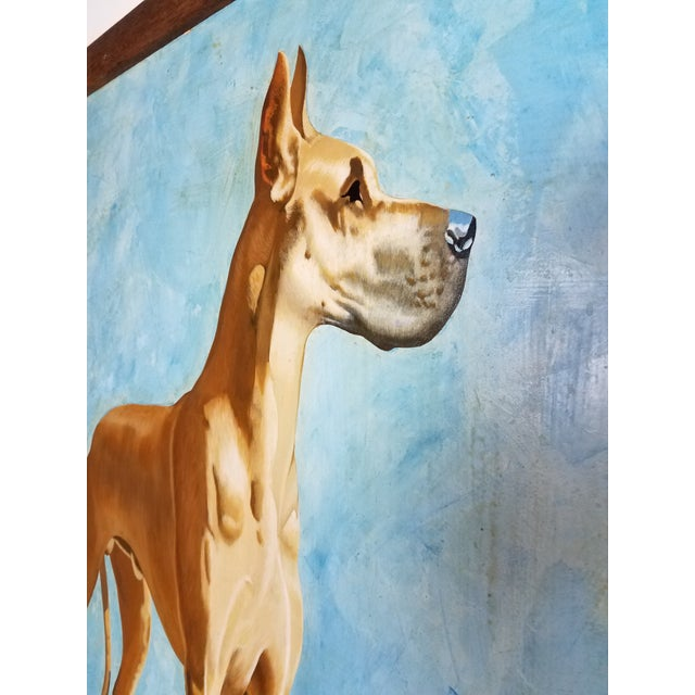 Great Dane Acrylic Painting - Image 5 of 5