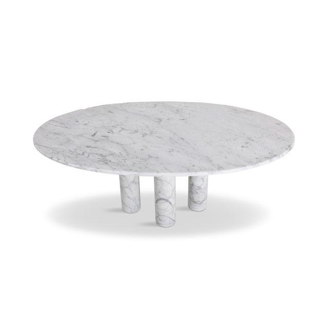 Stone Mario Bellini Il Colonnata Oval Dining Table in Carrara Marble for Cassina For Sale - Image 7 of 12