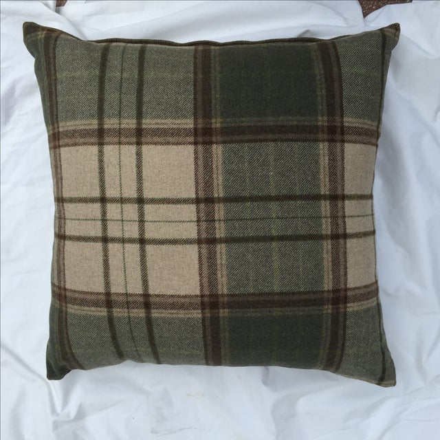 Scottish Wool Plaid Pillows - A Pair - Image 5 of 5