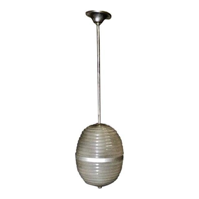 Murano Milk Glass Egg Pendant Light 1960/70 For Sale