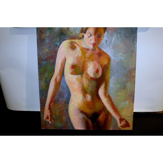 Figurative Nude Oil Painting on Canvas Signed Mautner For Sale - Image 3 of 7