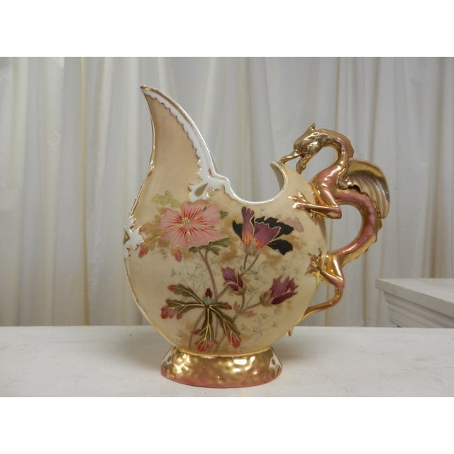Vintage Ewer With Griffin Handle - Image 2 of 6