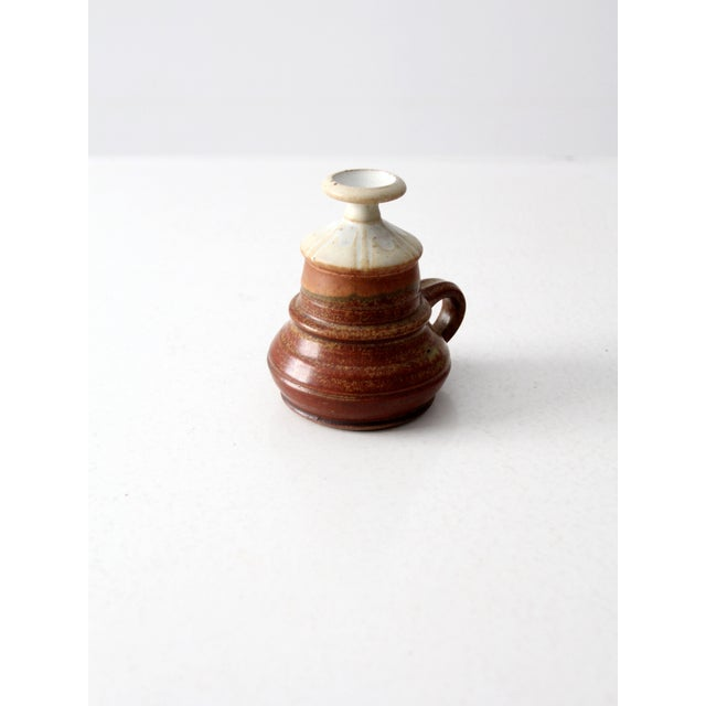 Mid 20th Century Vintage Studio Pottery Oil Lamp by Charles Piatt For Sale - Image 5 of 7