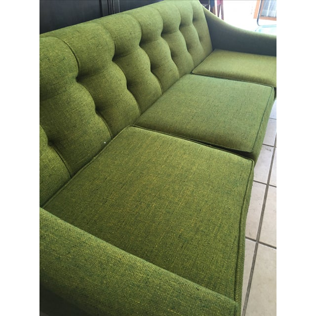 Vintage Lime Green Sofa - Image 4 of 11