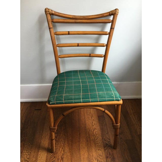 1940s 1940s Boho Chic Scorched Bamboo Accent Chair For Sale - Image 5 of 13
