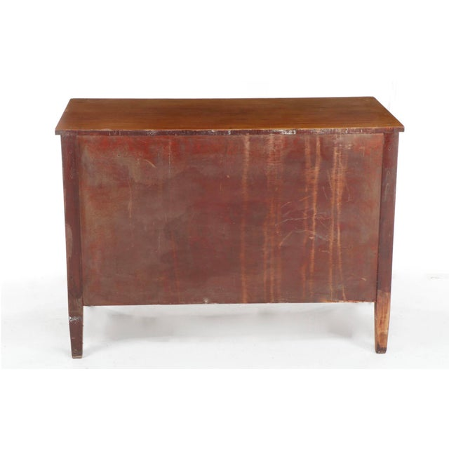 Metal Antique Empire Birch Chest of Drawers For Sale - Image 7 of 8