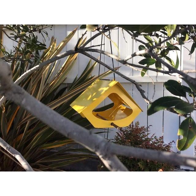 Beekman Bird Feeder in Yellow For Sale - Image 4 of 9