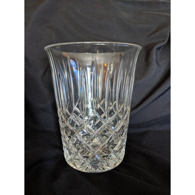 Vintage Toscany Lead Crystal Ice Bucket For Sale - Image 4 of 4