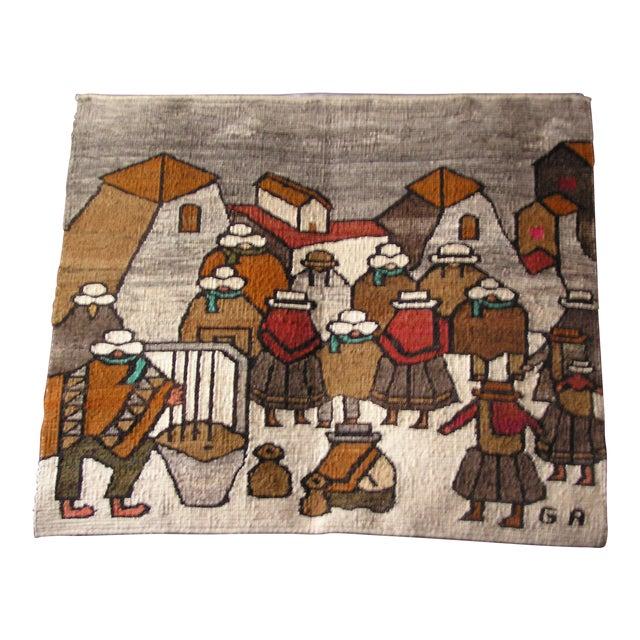 Handmade Peruvian Wall Hanging | Chairish