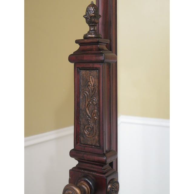 Wood Maitland Smith Mahogany Cheval Dressing Mirror For Sale - Image 7 of 12