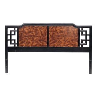 Modern Chinoiserie Style King Size Headboard For Sale