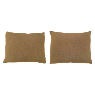 """Vintage Art Deco Decorative Brown Fabric Pillows, Double-Sided, Size 20"""" X 16"""" (1'8"""" X 1'4"""") - a Pair For Sale"""
