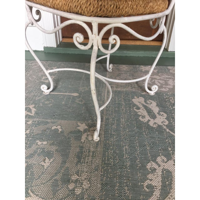 1950s French Country Wrought Iron Dining Set - 5 Pieces For Sale - Image 9 of 10
