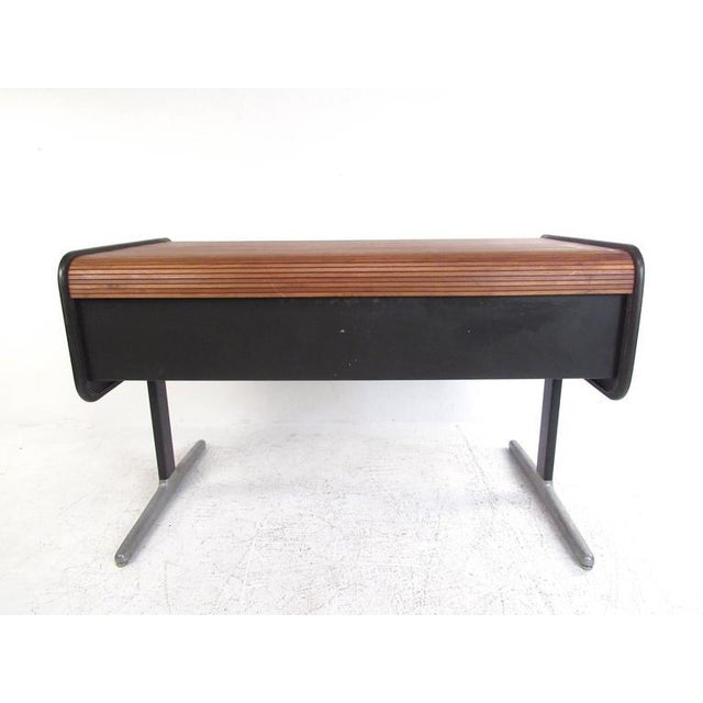 George Nelson for Herman Miller Mid-Century Tambour Roll-Top Desk For Sale In New York - Image 6 of 9