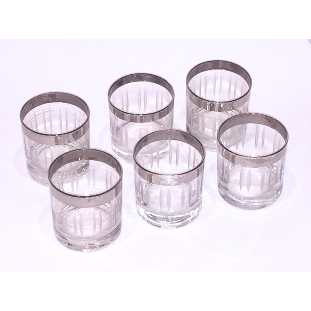 Silver Rim Cordial Glasses - Set of 6 - Image 3 of 4