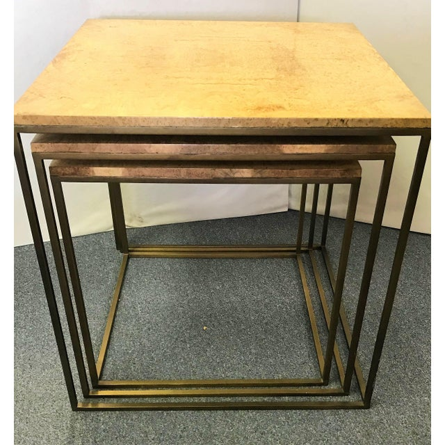 Keno Bros Burled Maple Nesting Tables - Set of 3 For Sale - Image 4 of 13