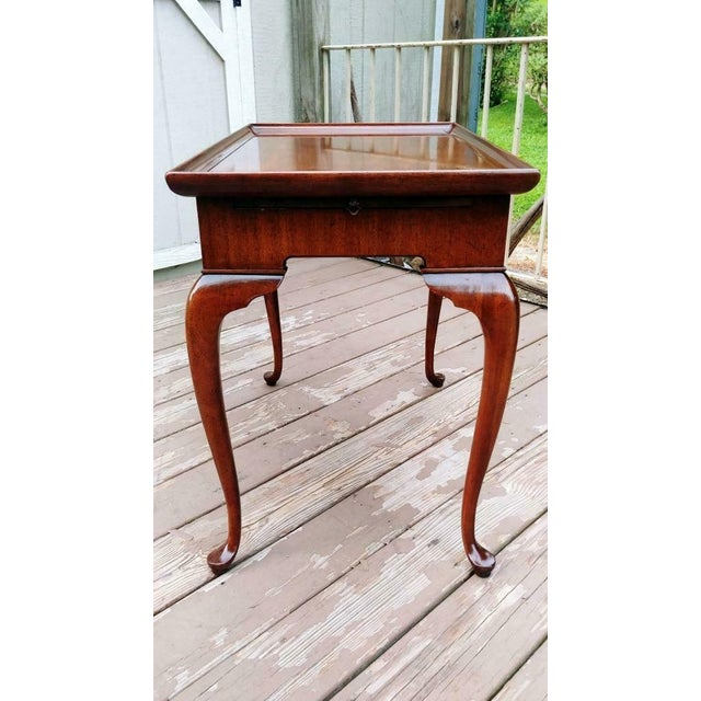 Traditional Vintage Traditional Brandt Mahogany Tea Table For Sale - Image 3 of 13