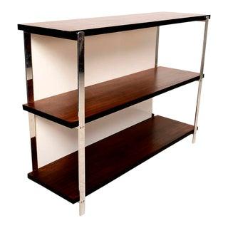 Custom Bookcase in Mahogany & Aluminum For Sale