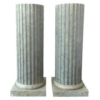20th C. Column Pedestals - A Pair