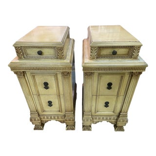 Light Wood Depression Era Nightstands - A Pair For Sale